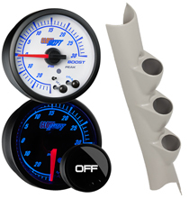 Elite 10 Color Series Triple Gauge Package for 2010-2018 Dodge Ram Cummins