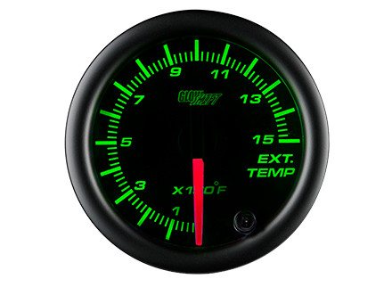 Black 7 Color 1500° F Pyrometer EGT Gauge