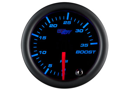 Black 7 Color 35 PSI Boost Gauge