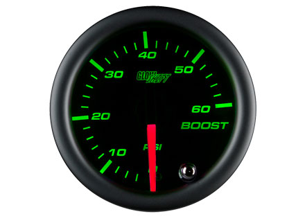 Black 7 Color 60PSI Boost Gauge