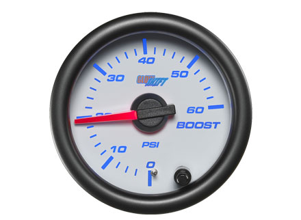 White 7 Color 60PSI Boost Gauge