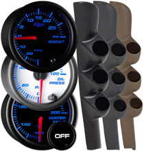 7 Color Series Triple Gauge Package for 98-02 Dodge Ram Cummins