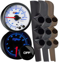 Elite 10 Color Series Triple Gauge Package for 98-02 Dodge Ram Cummins