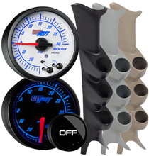 Elite 10 Color Series Triple Gauge Package for 1999-2007 Ford Super Duty Power Stroke