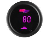 GlowShift 10 Color Digital Oil Pressure Gauge