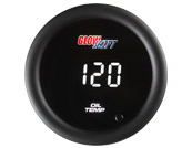 GlowShift 10 Color Digital Oil Temp Gauge
