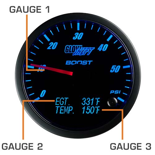 3 in 1 Series Gauge Face